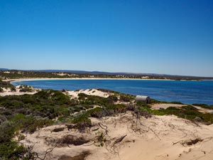 View from point towards Jurien Bay.