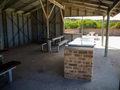 Sheltered BBQ and seating
