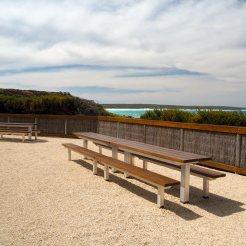 Seating overlooking ocean