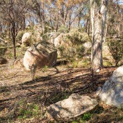 Granite boulders